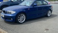 BMW 1C 118D M SPORT COUPE. 1995CC. DIESEL IN BLUE. 56968 MILEAGE.