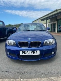2011  BMW  118D  M SPORT COUPE IN BLUE.  1995c.c. DIESEL WITH 56968 MILEAGE full